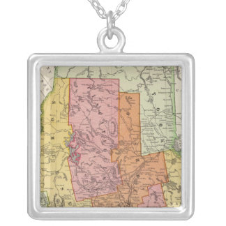 Maine 17 silver plated necklace