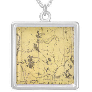 Maine 2 silver plated necklace