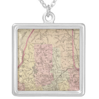 Maine 3 silver plated necklace