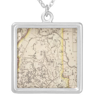 Maine 4 silver plated necklace
