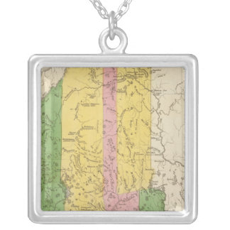 Maine 5 silver plated necklace