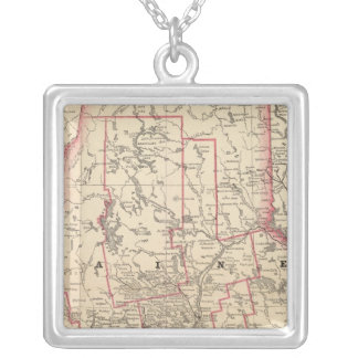 Maine 6 silver plated necklace