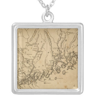 Maine 7 silver plated necklace