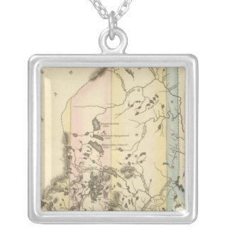 Maine 9 silver plated necklace