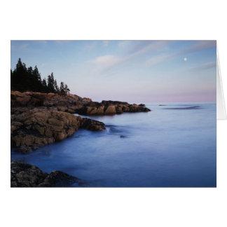 Maine, Acadia National Park, Moonset Card