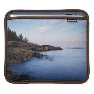 Maine, Acadia National Park, Moonset iPad Sleeve