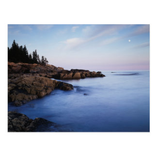 Maine, Acadia National Park, Moonset Postcard