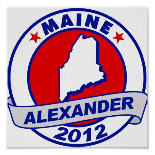 Maine Alexander Poster