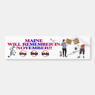 Maine - Anti ObamaCare, New Taxes & Spending Bumper Sticker