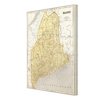 Maine Atlas Map Canvas Print