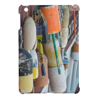 Maine, Bar Harbor. Colorful lobster trap buoys iPad Mini Cover