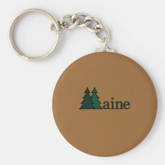 Maine Basic Round Button Key Ring