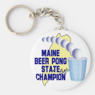 Maine Beer Pong Champion Key Chain