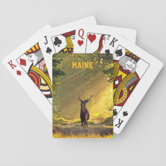 Maine Buck Deer Playing Cards