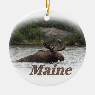 Maine Bull Moose Christmas Ornament