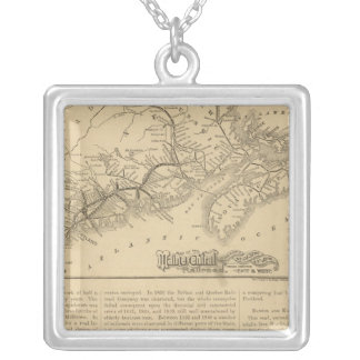 Maine Central Railroad Silver Plated Necklace