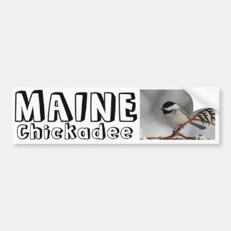 Maine Chickadee Bumper Sticker