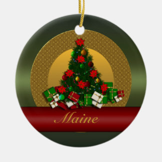 Maine Christmas Tree Ornament