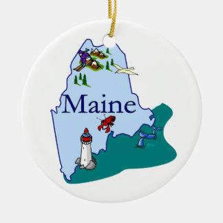 Maine Christmas Tree Ornament