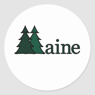 Maine Classic Round Sticker