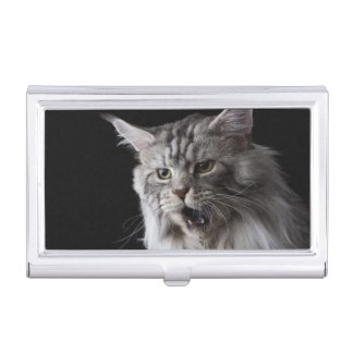Maine Coon cat 2 Business Card Holder