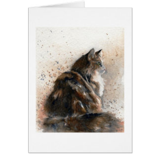 Maine Coon Cat Blank Notecard Greeting Card
