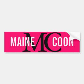 Maine Coon Cat Breed Monogram Bumper Sticker