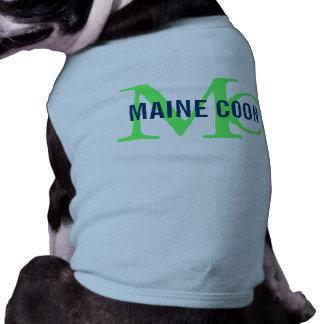 Maine Coon Cat Breed Monogram Sleeveless Dog Shirt