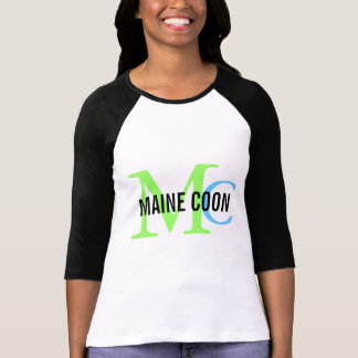 Maine Coon Cat Breed Monogram T-Shirt