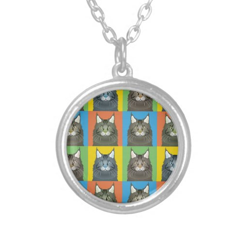 Maine Coon Cat Cartoon Pop-Art (Dark) Jewelry