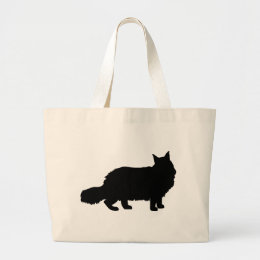 Maine Coon Cat Large Tote Bag