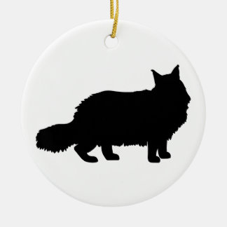 Maine Coon Cat Round Ceramic Decoration