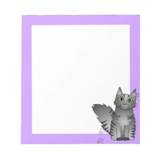 Maine Coon Cat - Silver Grey Tabby Notepad