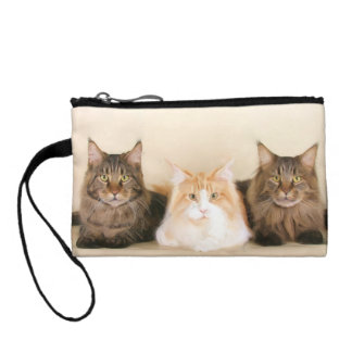 Maine Coon cats Coin Wallets