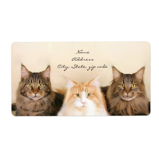 Maine Coon Cats Shipping Labels