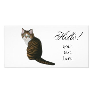 Maine Coon Hello Photo Card