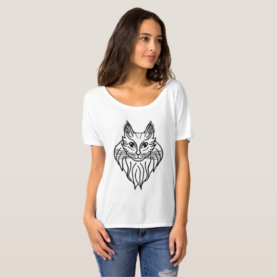 Maine Coon in Black T-Shirt
