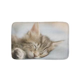 Maine Coon Kitten Sleeping Bath Mat