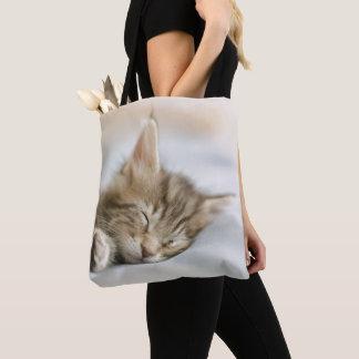 Maine Coon Kitten Sleeping Tote Bag