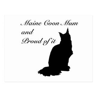 Maine Coon Mum Postcard