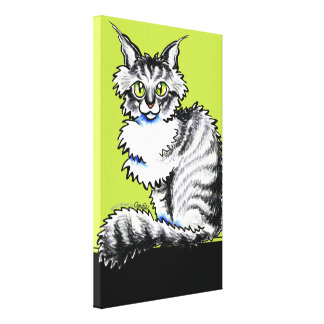 Maine Coon Tabby Off-Leash Art™ Gallery Wrapped Canvas