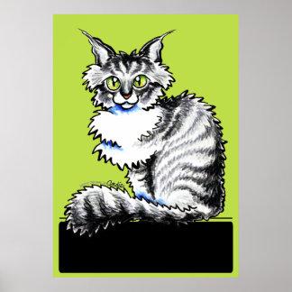 Maine Coon Tabby Off-Leash Art™ Print