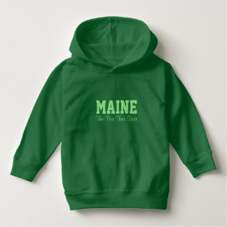 MAINE custom text clothing Hoodie