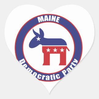 Maine Democratic Party Heart Sticker