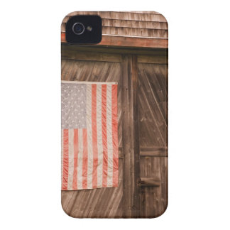 Maine, Faded American flag on door of old barn Case-Mate iPhone 4 Cases