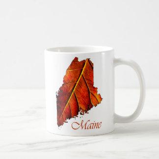 Maine Fall Foliage Orange Colored Leaf Coffee Mug