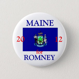 Maine for Romney 2012 6 Cm Round Badge
