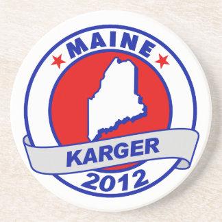 Maine Fred Karger Drink Coaster