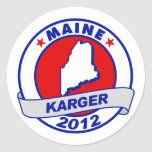 Maine Fred Karger Round Sticker