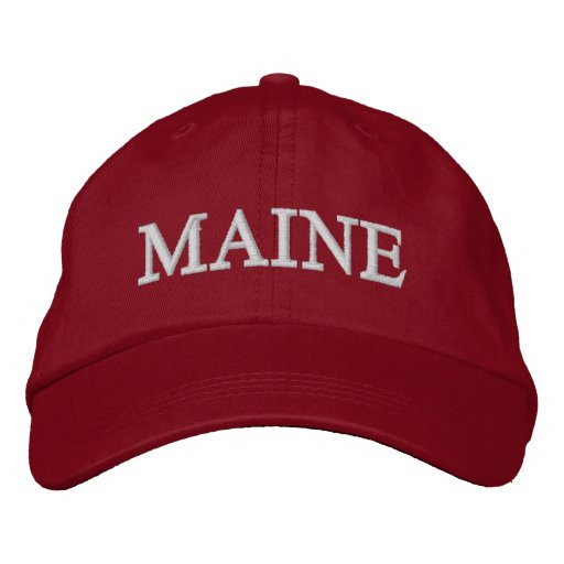 MAINE HAT from the MaineBen Collection Embroidered Baseball
